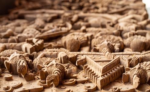 Mandalay wood carving tanpa wadi